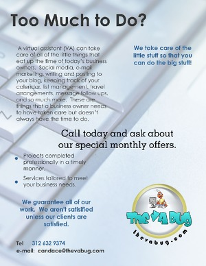 Flyer about my virtual assistant service