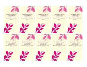 The Flowering Branch business cards