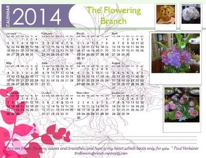 The Flowering Branch calendar