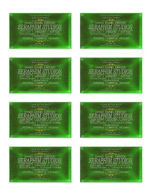 The Seraphim Studio Business Cards