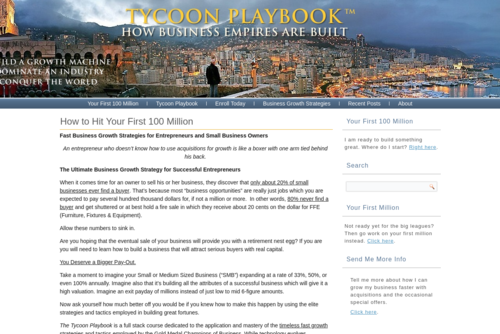 Business Growth Strategies – Ladies Only - http://tycoonplaybook.com