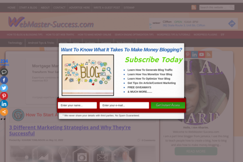 How To Monetize Your Blog Successfully & Make Money Blogging - http://www.webmaster-success.com