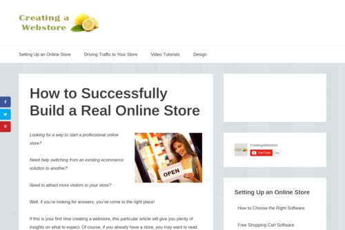 How to Build an Online Store in Less Than an Hour  - http://creatingawebstore.com
