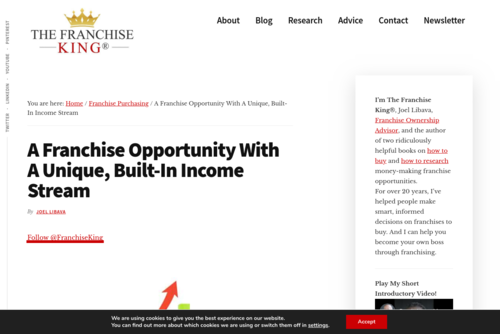 A Business With A Unique, Built-In Income Stream - thefranchiseking.com/franchise-opportunity-residual-income-stream