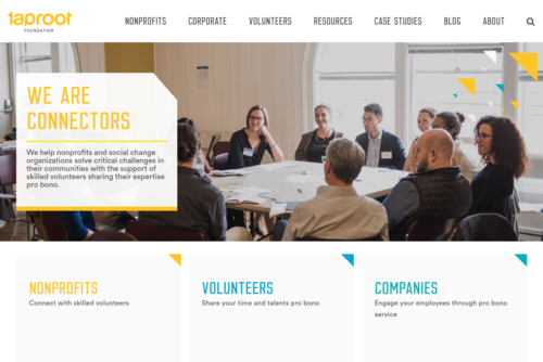 BOLD NEW PLATFORM SEEKS TO TRANSFORM PRO BONO SERVICE  - http://www.taprootfoundation.org