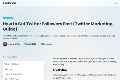 Case Study: Successful Twitter Marketing (300%Increase in Traffic and Leads) - https://www.socialquant.net