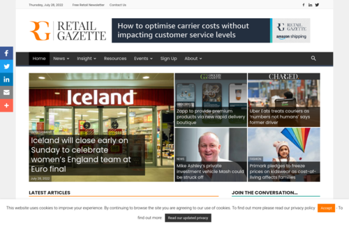 Advertising on the weekend is most effective- Retail Gazette - http://www.retailgazette.co.uk