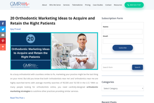 4 Highly Effective Dental Marketing Ideas to Attract More New Patients - https://blog.gmrwebteam.com
