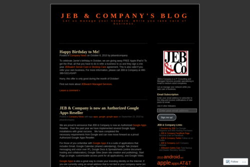 Don't Neglect the Importance of a Good Disaster Recovery Plan - http://jebandcompany.wordpress.com
