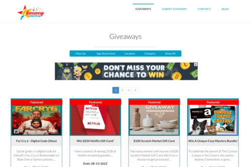 Giveaway Partnership - Giveaway Machine - http://giveawaymachine.com