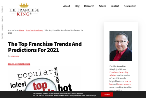 The Top Franchise Trends In 2021 Includes Robots And Wax - thefranchiseking.com/franchise-trends-2021