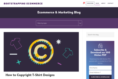 14 Ideas For Your Store's Blog - http://bootstrappingecommerce.com