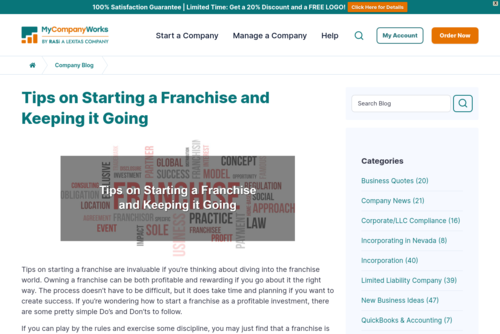 Tips on Starting a Franchise and Keeping it Going  - mycompanyworks.com/tips-on-starting-a-franchise-and-keeping-it-going/