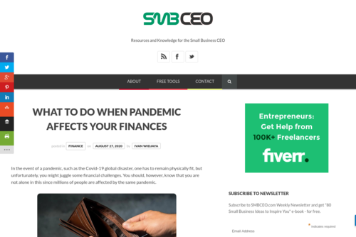 What to Do When Pandemic Affects Your Finances  - www.smbceo.com/2020/08/27/what-to-do-when-pandemic-affects-your-finances/