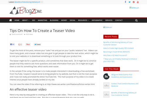 Tips On How To Create a Teaser Video - www.iblogzone.com/2013/08/tips-on-how-to-create-a-teaser-video.html