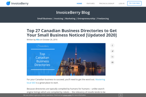 Top 27 Canadian Business Directories to Get Your Small Business Noticed [Updated 2020] - www.invoiceberry.com/blog/top-canada-business-directories-get-small-business-...