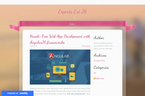 Hassle-Free Web App Development with AngularJS frameworks - http://angularjs-development.weebly.com
