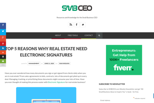 Top 5 Reasons Why Real Estate Need Electronic Signatures  - www.smbceo.com/2020/06/21/top-5-reasons-why-real-estate-need-electronic-signa...