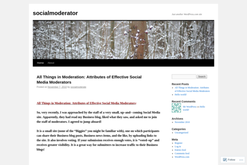 All Things in Moderation: Attributes of Effective Social Media Moderators - http://socialmoderator.wordpress.com