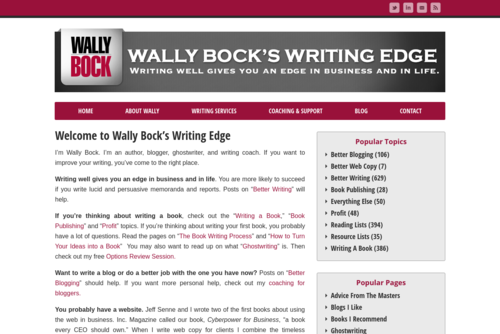 The Writing Edge for Business Writers: 8/4/17 - http://writingabookwithwally.com