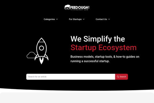The Startup Life Cycle  - https://www.feedough.com