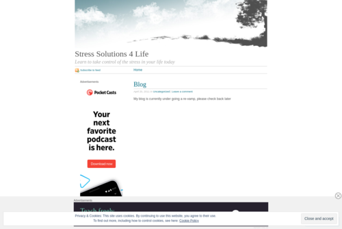 How stress affects our lives….  - http://stresssolutions4life.wordpress.com