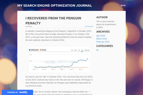 How to Recover from a Google Penguin Penalty  - http://seodiary.weebly.com