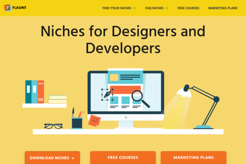 Finding Your Graphic Design Niche: 100+ Examples | The Niche Notebook - http://www.flauntmydesign.com