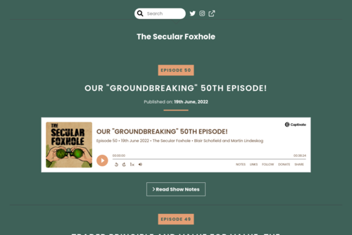 Welcome to The Secular Foxhole Podcast! [podcast] - https://the-secular-foxhole.captivate.fm