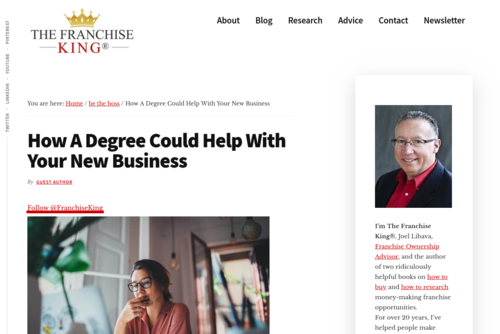 How A Degree Could Help With Your Business - thefranchiseking.com/degree-new-business