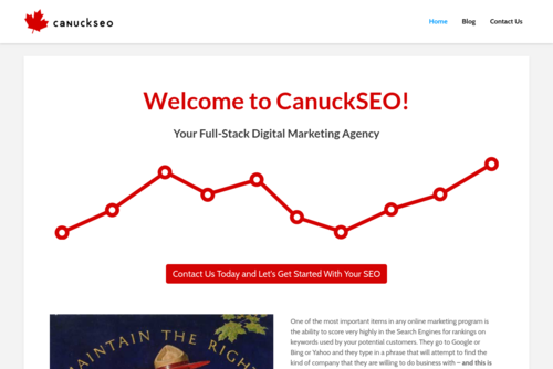 Awarded a Spot in the Top 100 SEO Blogs!!!  - http://www.canuckseo.com