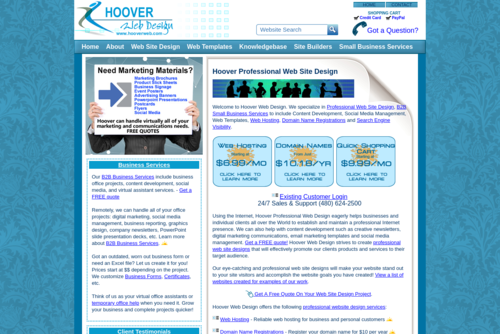 Seven Tips for Better Website Sales - http://www.hooverwebdesign.com