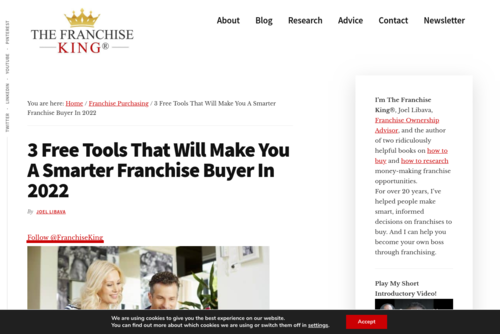 Use These 3 Free Tools To Help You In The Franchise Buying Process - thefranchiseking.com/free-tools-franchise-buying-process