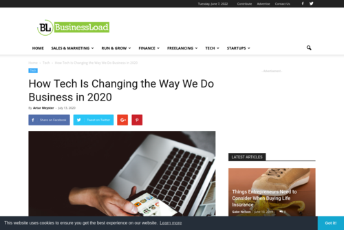 How Tech Is Changing the Way We Do Business in 2020 - BusinessLoad.com - www.businessload.com/tech-business/how-tech-is-changing-the-way-we-do-busines...