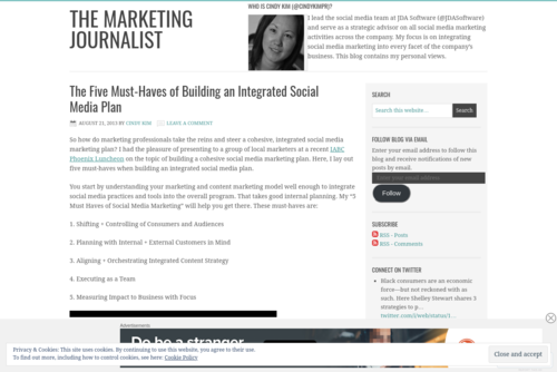 How Brands Use Social Media – The Marketing Journalist - http://cindykimblog.wordpress.com