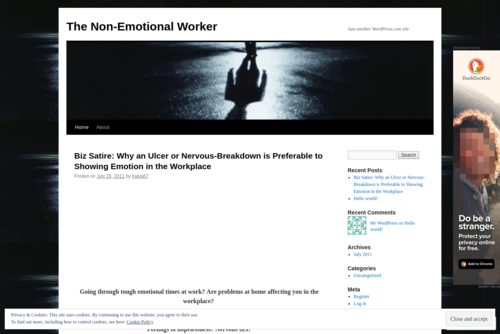 Biz Satire: Why an Ulcer or Nervous-Breakdown is Preferable to Showing Emotion in the Workplace  - http://yonirivkahandhalva.wordpress.com