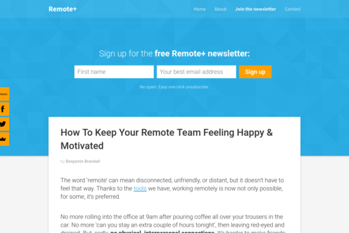 How To Keep Your Remote Team Feeling Happy & Motivated - https://remote.plus