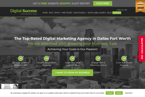 Digital Success Ranked #1 Digital Marketing Agency in Dallas by Clutch! - http://www.digitalsuccess.us