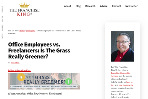 Office Employees vs. Freelancers: Is The Grass Really Greener? - thefranchiseking.com/office-employees-vs-freelancers