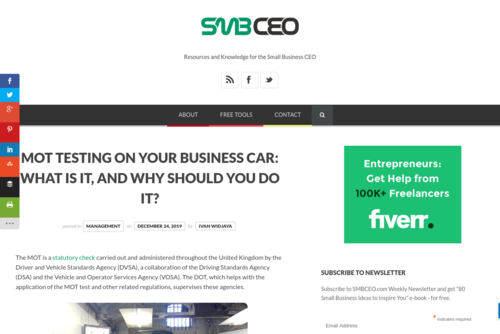 MOT Testing on Your Business Car: What is it, and Why Should You do it?  - www.smbceo.com/2019/12/24/mot-testing-on-your-business-car-what-is-it-and-why...