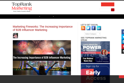 Strategic Link Building for SEO (Search Engine Optimization) - http://www.toprankblog.com
