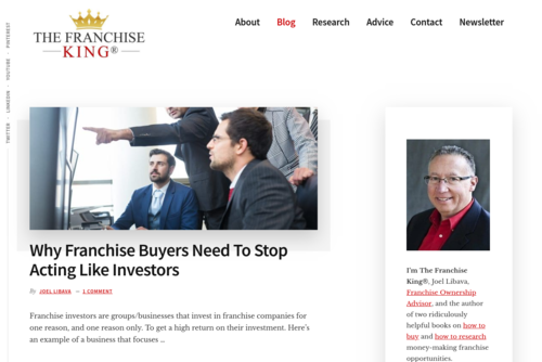 The Top 10 Franchise Business Blogs For 2010! - http://www.thefranchisekingblog.com
