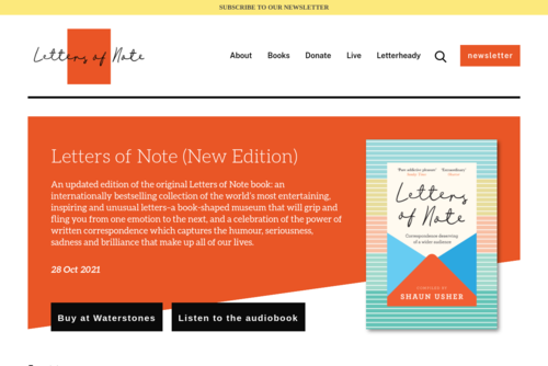 Letters of Note: I am a lousy copywriter - http://www.lettersofnote.com