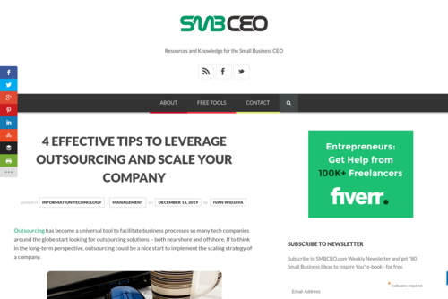 4 Effective Tips to Leverage Outsourcing and Scale Your Company  - www.smbceo.com/2019/12/13/4-effective-tips-to-leverage-outsourcing-and-scale-...