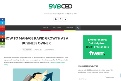 How to Manage Rapid Growth as a Business Owner  - www.smbceo.com/2019/07/13/how-to-manage-rapid-growth-as-a-business-owner/