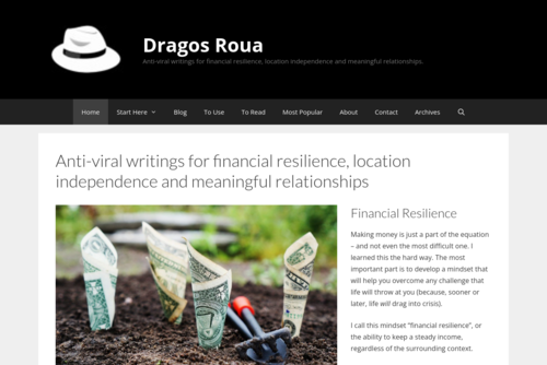 Start Your Own Business - http://www.dragosroua.com