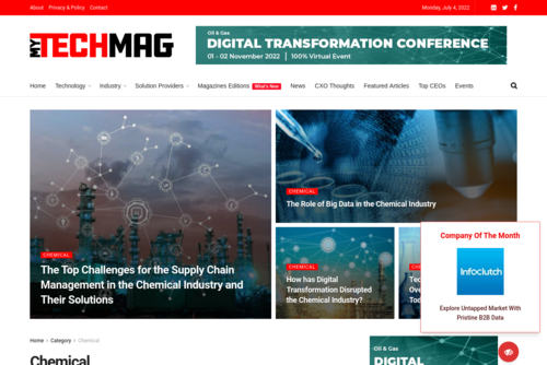 Digital technology Benefits for Chemical Industry - https://chemical.mytechmag.com