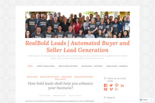 BoldLeads Offers the Best Real Estate Lead Generation Platform  - https://boldleadsaz.wordpress.com