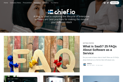 What is SaaS? 25 FAQs About Software as a Service - https://blog.chief.io