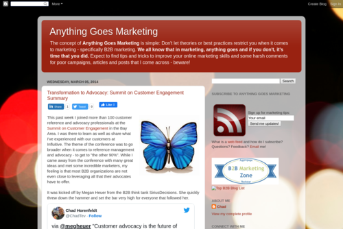 10 Tips for Using Twitter And Email Marketing for B2B - http://anythinggoesmarketing.blogspot.com